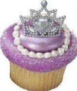 PRINCESS Crowns TIARA Rings Cupcake Toppers Party Favors