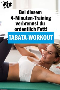 In 4 Minuten Fett verbrennen und die Ausdauer verbessern – das geht mit unsere… Burn fat in 4 minutes and improve endurance – this is what we do with our intense Tabata workout. Tabata training is ideal if you have… Continue Reading → Fitness Workouts, Fitness Herausforderungen, Fitness Motivation, Tabata Workouts, Workout Schedule, Workout Challenge, Fitness Goals, At Home Workouts, Motivation Quotes