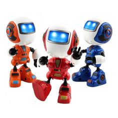 Mini Musical Smart Induction Robot with Light for Kids Chirstmas Gift #Unbranded