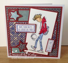 LOTV - Oliver Kicking About with Teenage Boys Sentiments by Kelly Lloyd Birthday Cards For Boyfriend, Birthday Cards For Boys, Happy Birthday Cards, Birthday Greeting Cards, Birthday Greetings, Boy Cards, Kids Cards, Men's Cards, Teenager Birthday