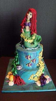 Little Mermaid cake by The Vagabond Baker.  Wwww.facebook.com/hevagabondbaker