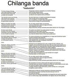 "Traducción mexicano/español de ""Chilanga Banda"" de @cafetacvba"
