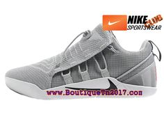 size 40 92769 a827c Nike Kobe 12 NXT Chaussures Nike Basket Pas Cher Pour Homme Gris Blanc