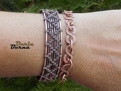 Men copper cuff braceletCopper Wire Men BraceleteWire