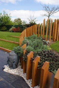 Back Gardens, Outdoor Gardens, Fence Design, Garden Design, Garden Dividers, Front Garden Landscape, Front Courtyard, Pond Landscaping, Garden Structures