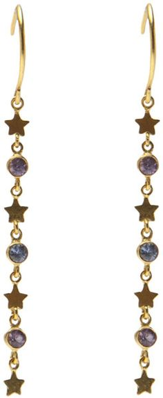 Marie-hélène De Taillac Star Drop Earrings in Gold