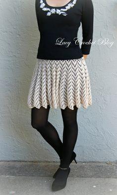 Lacy Crochet: #Crochet Lace Skirt
