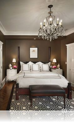 Small Master Bedroom Decorating Ideas & Paint Colors...love the colors!