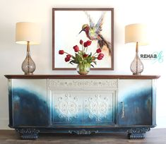 EXTRA Long and EXTRA  Beautiful!! Introducing our 90 inch long Sideboard/Credenza finished in our Brand New Rusty Navy finish.. .. Antique Sideboard, Home Decor Store, Unique Home Decor, Rustic Wood, Painted Furniture, Home Accessories, Living Room Decor, Buffets, Dressers