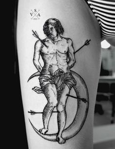 Man with arrows in body by SV.A