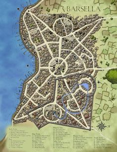 Fantasy Cartography by Sean Macdonald Fantasy City Map, Fantasy World Map, Fantasy Places, Dungeons And Dragons, Dark Sun, Plan Ville, Village Map, Rpg Map, Map Layout
