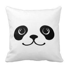 Black And White Panda Cute Animal Face Design Cushions Throw Cushions, Decorative Throw Pillows, Panda Birthday, Custom Cushions, Face Design, Animal Faces, Designer Pillow, Panda Bear, Hello Kitty