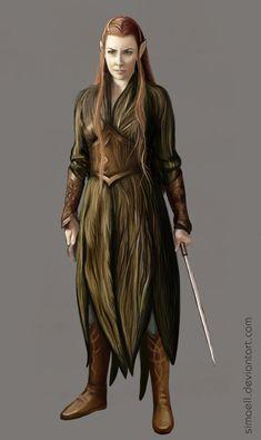 Tauriel, Daughter of Mirkwood by Simaell.deviantart.com on @deviantART