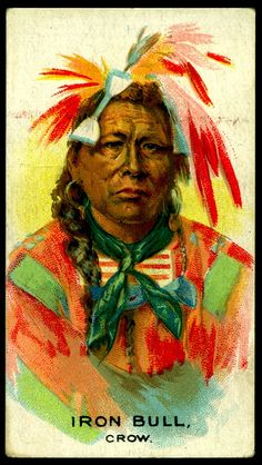Cigarette Card - Indian Chief, Iron Bull by cigcardpix, via Flickr