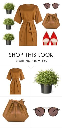 """""""Untitled #1133"""" by diana-kulieva ❤ liked on Polyvore featuring MSGM, Maison Margiela and Oliver Peoples"""