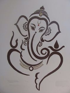 New Lovely Lord Ganesha Famous And Popular Lord Ganesha Wallpaper Collection. Ganesha Sketch, Ganesha Drawing, Lord Ganesha Paintings, Ganesha Art, Ganesh Tattoo, Hindu Tattoos, Indian Art Paintings, Cool Art Drawings, Elephant Tattoos