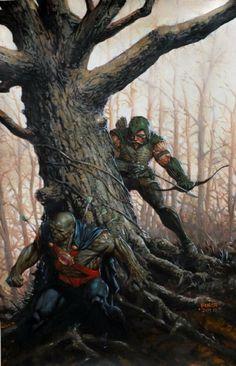 Green arrow Martian Manhunter