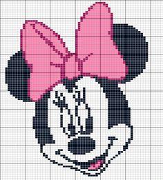 Minnie Mouse perler bead pattern