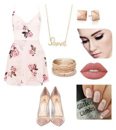 """Untitled #12"" by itsalexis22 on Polyvore featuring Semilla, Lipsy, Red Camel, Sydney Evan and Lime Crime"
