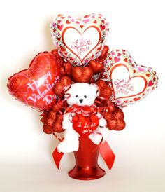 Reversible Valentine's Day Balloon Bouquet (side 1)