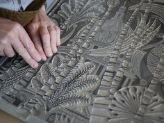 Cutting lino | Flickr - Photo Sharing!