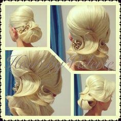 #updo #style #bridal #engagement