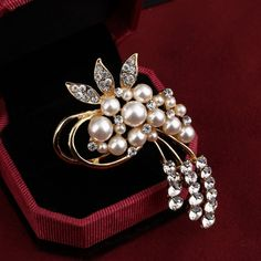 Women Jewelry Rose plated Balls Wedding Party Brooch Pin Jewelry Formal hOT