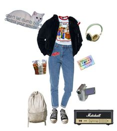 """""""brain-dead virtually"""" by loveinthe90s ❤ liked on Polyvore featuring Wrangler, Converse, Pull&Bear, Vans, music, alternative, blur and coffeeandtv"""