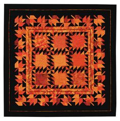 Orange Wonder Quilt pattern by Ilene Bartos