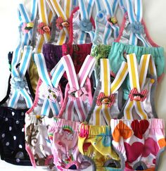 USA SELLER Puppy Diaper Sanitary Pants Suspenders Stay On Female Girl Small Dog