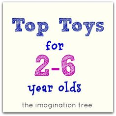 The Imagination Tree: Top Toy List for 2-6 Year Olds! A very comprehensive list with high quality non-battery powered toys.