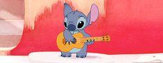 Happy Stitch with a uke :)