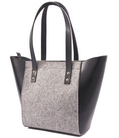 Le Cabas - Felt and Leather - CANTIN - Permanent Collection #fashion #montreal #handmade  #bags