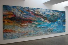 Landscape made by an artist using old puzzle pieces.