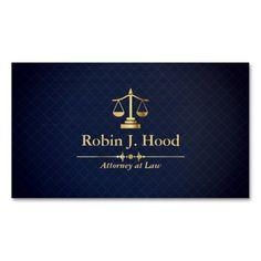 Elegant Faux Gold Libra Dark Blue Grid Lawyer