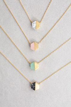 Hexa Stone Necklace