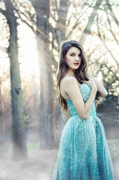 Put on a stunning fairytale gown. | 47 Brilliant Tips To Getting An Amazing Senior Portrait