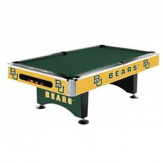 8Ft Pool Table   Baylor Bears