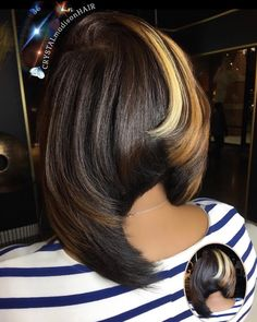 Dope cut and color by - Black Hair Information Dope Hairstyles, Weave Hairstyles, Pretty Hairstyles, Black Hairstyles, Short Hair Cuts, Short Hair Styles, Natural Hair Styles, Bob Styles, Relaxed Hair