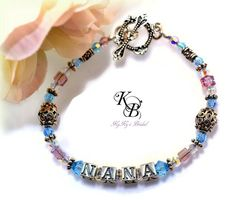 Mothers Bracelet, Grandmothers Bracelet, Personalized Bracelet, Custom Bracelet, Birthstone Jewelry, Personalized Gift, Mothers Day Gift | KyKy's Bridal, Handmade Bridal Jewelry, Wedding Jewelry