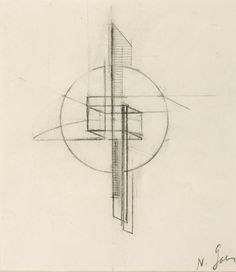 Naum Gabo- Sketch 1917