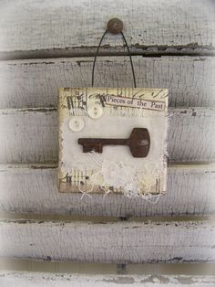 me ~ Original Collage Vintage Collage Altered Mixed Media Vintage Skeleton Key Mini Collage Vintage Mixed Media Altered Art Vintage Steampunk Key Crafts, Wood Crafts, Diy And Crafts, Paper Crafts, Vintage Diy, Vintage Crafts, Etsy Vintage, Vintage Collage, Collage Art