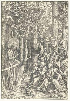 Johannes de Doper predikt tot mensen, Lucas Cranach (I), 1516 - Rijksmuseum Vintage Wall Art, Vintage Walls, Lucas Cranach, John The Baptist, Historical Maps, Museum Collection, Art Museum, Vintage World Maps, Tapestry