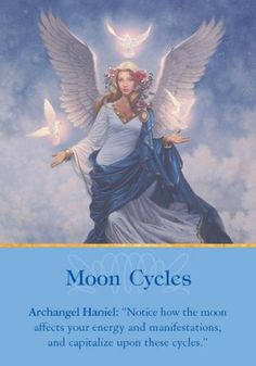"Archangel Haniel: ""Notice how the moon affects your energy and manifes 