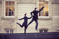 jumping engagement shot at osgoode hall in toronto, winter 2013 Unique Engagement Photos, Engagement Shots, Engagement Photography, Wedding Engagement, Wedding Photography, Intimate Photos, Multiple Exposure, Wedding Pics, Wedding Ideas