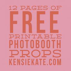12 pages of free printable photobooth props » kensie kate