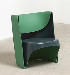 """RON ARAD 'Nino Rota' chair, 2002  Polyethlene. Manufactured by Cappellini, Italy. Lower back impressed """"'NINO ROTA by Ron Arad for Cappellini'"""". 72 cm. (28 in.) high."""