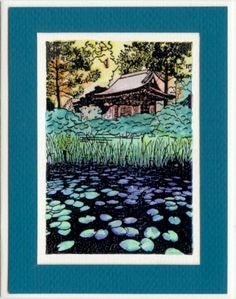 Temple on Lily Pond (Heather Taylor)  Unmounted Rubber Stamp