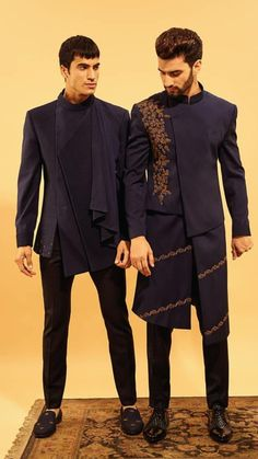 Mens Indian Wear, Mens Ethnic Wear, Indian Groom Wear, Indian Men Fashion, Mens Fashion Wear, Wedding Dress Men, Wedding Men, Wedding Suits, Boys Kurta Design