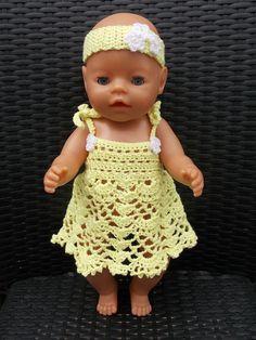 Renate's Haken en zo: Patroon Baby Born pop jurkje en mutsje